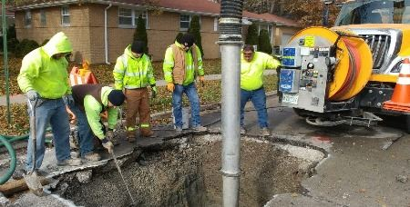 Public Works Water Main Break