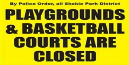 Skokie Park District Closure Sign (JPG)