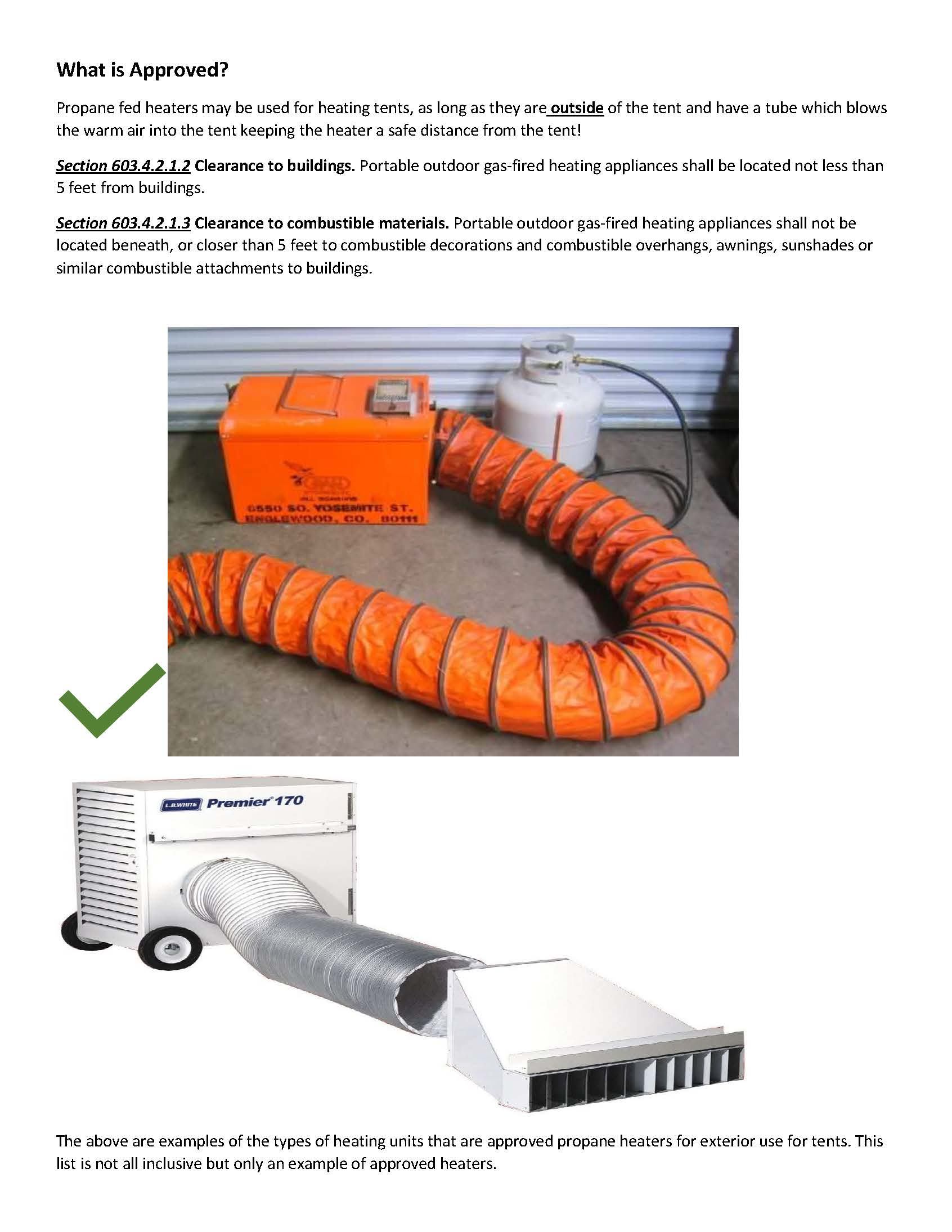 Guidelines for Outdoor Heating for Tents Page 2 (JPG)